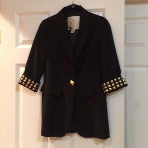 Never worn Arden B gold studded blazer